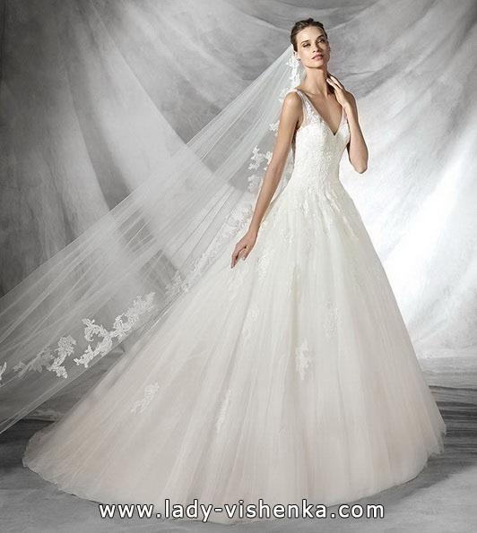 Кружевное свадебное платье принцессы - Pronovias