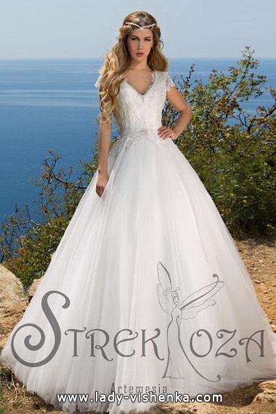 Свадебное платье принцессы с кружевным верхом - Strekoza