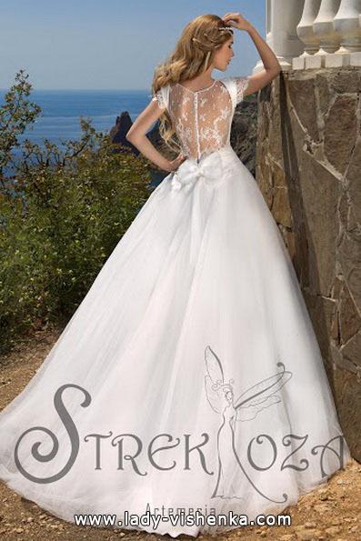Свадебное платье принцессы - спина - Strekoza