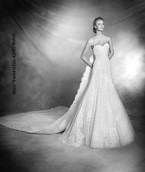 Свадебное платье и фата Pronovias