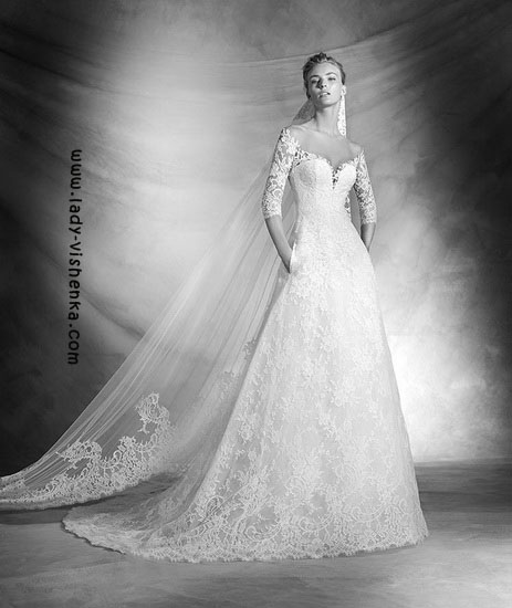 Свадебные платья с рукавами фото Pronovias