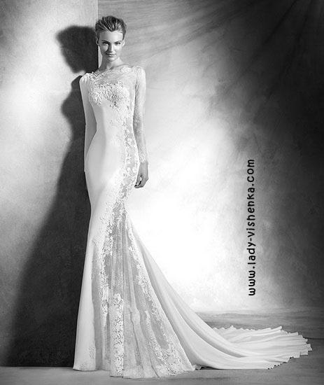 Кружевные свадебные платья фото Pronovias