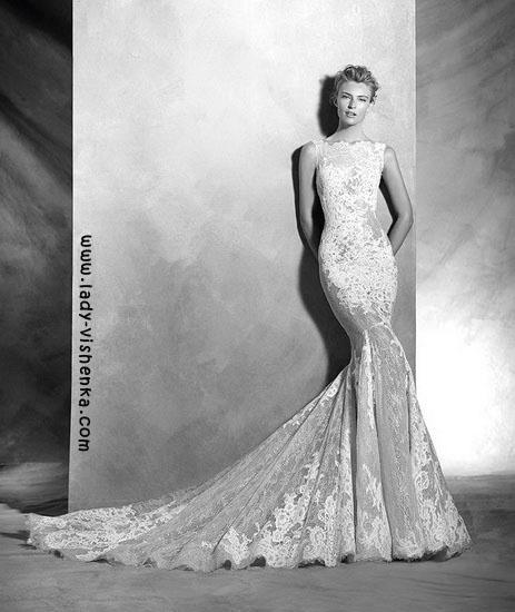 Свадебные платья из кружева Pronovias
