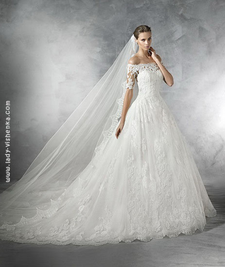 Свадебные платья с кружевом фото Pronovias
