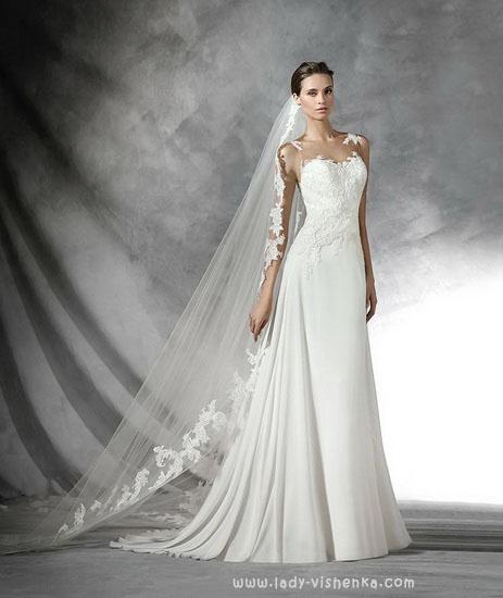 Очень красивое свадебное платье Pronovias