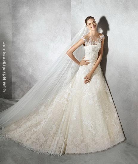 Свадебное платье айвори Pronovias