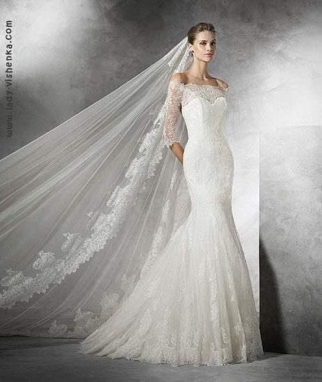 Самое красивое свадебное платье рыбка Pronovias