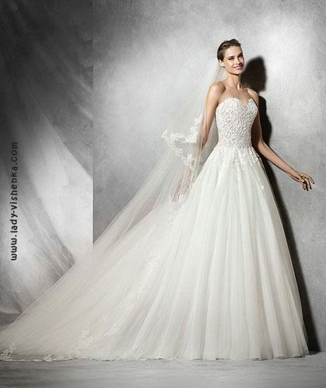 Длинные свадебные платья фото Pronovias