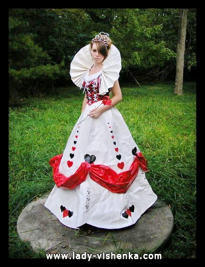 Оригинальный костюм Королевы Червей на Хэллоуин