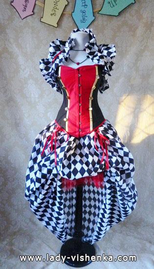 Королева Червей - костюм для девушек на Хэллоуин