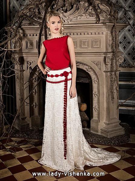 Красное свадебное платье 2016 - Jordi Dalmau
