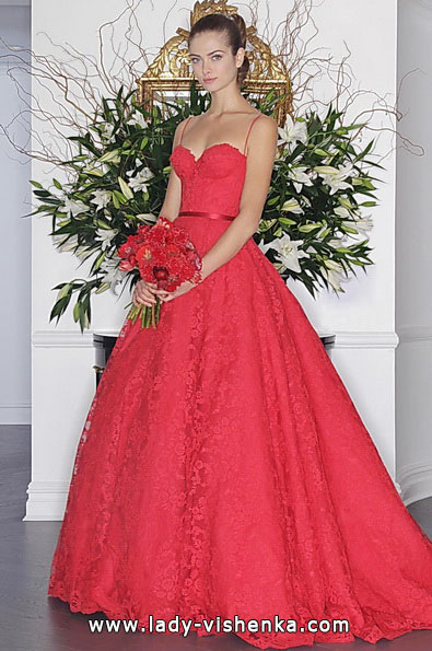 Красное свадебное платье 2016 - Romona Keveza
