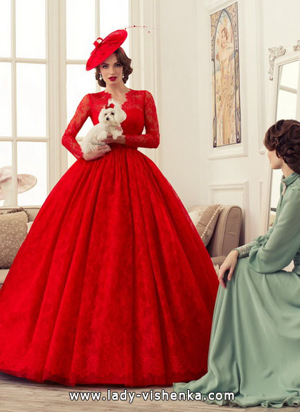 Пышное красное свадебное платье 2016 - Tatiana Kaplun