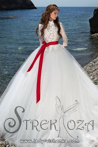 Свадебные платья с красным поясом 2016 - Strekoza