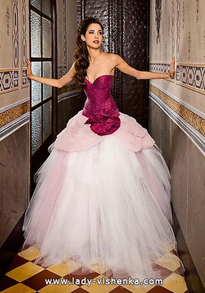 Свадебные платья с красными элементами - Jordi Dalmau