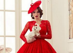 Красное свадебное платье 2016