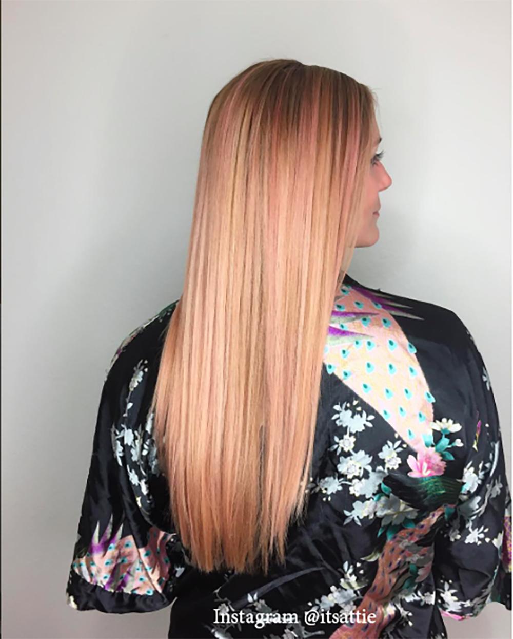 3. Цвет волос - розовое дерево