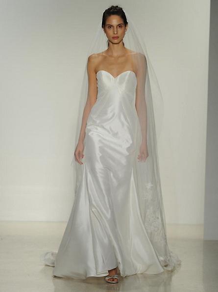 Атласное свадебное платье - русалочка - Kelly Faetanini