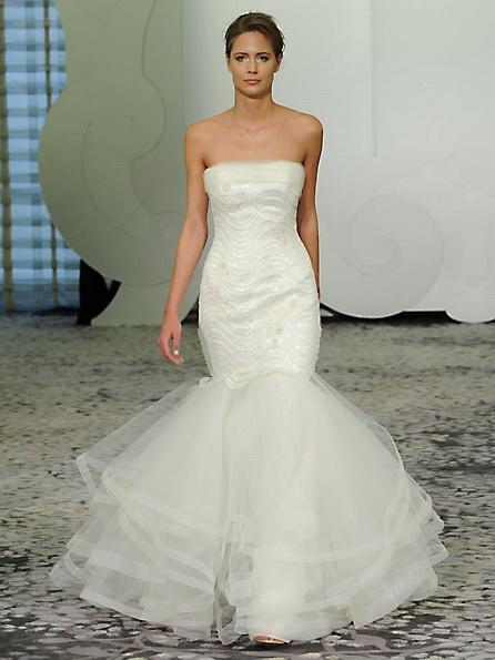 Атласное свадебное платье - русалочка - Rivini