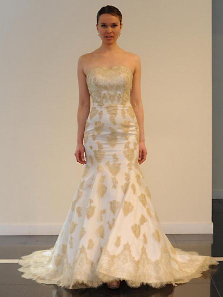 Атласное свадебное платье - русалочка - Yumi Katsura