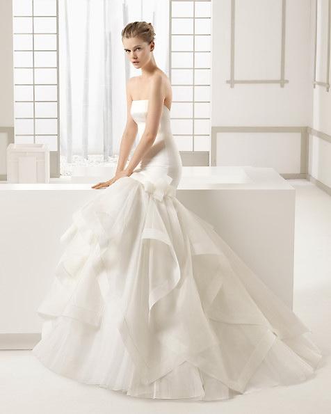 Атласное свадебное платье - русалочка - ROSA CLARA