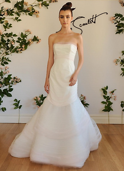 Атласное свадебное платье - русалочка - Austin Scarlett