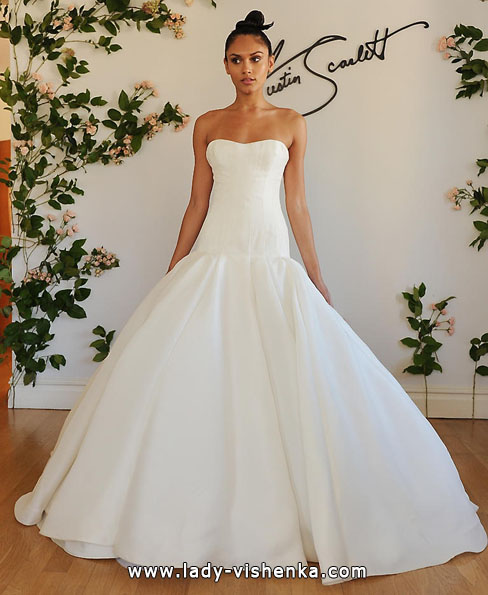 Свадебное платье из атласа 2016 - Austin Scarlett