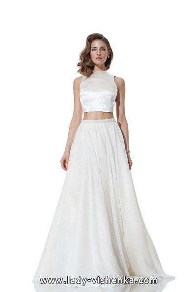 Атласные свадебные платья 2016 - Olia Zavozina