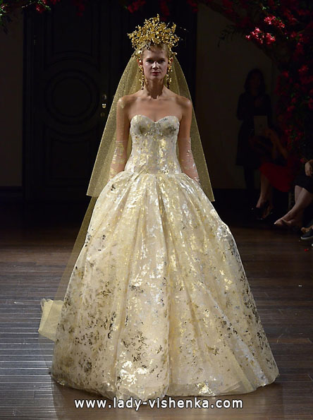 Атласные свадебные платья 2016 фото - Naeem Khan