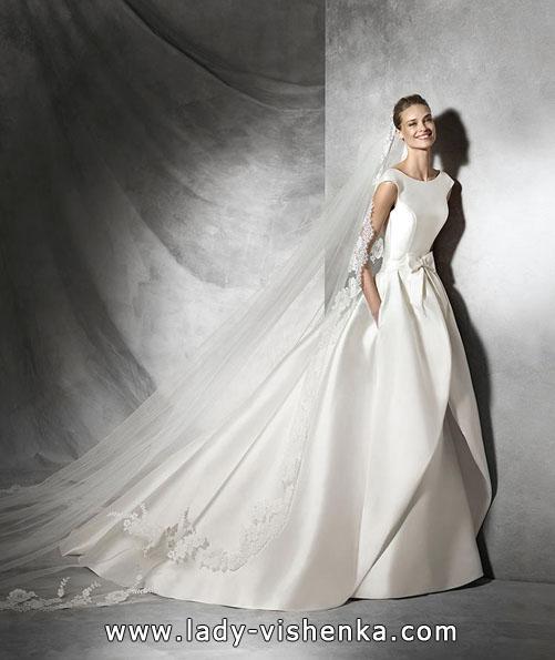Красивые атласные свадебные платья 2016 - Pronovias
