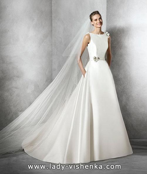 Атласные свадебные платья весна 2016 - Pronovias