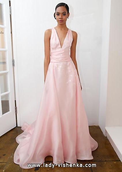 Свадебное платье из атласа 2016 - Pamella Roland