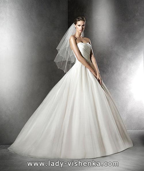 Атласные свадебные платья 2016 - Pronovias