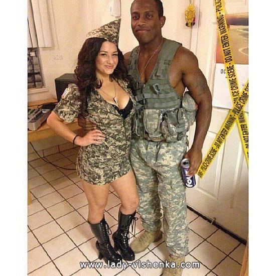 Простой костюм на Хэллоуин для пары