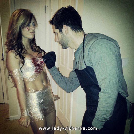 Убийца и его жертва - костюм для пары на Хэллоуин