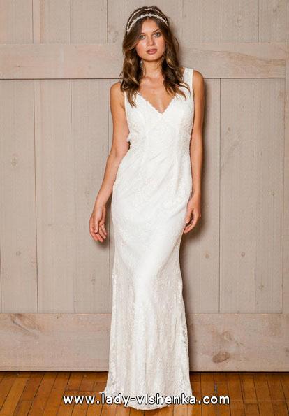 Прямое свадебное платье 2016 - David's Bridal