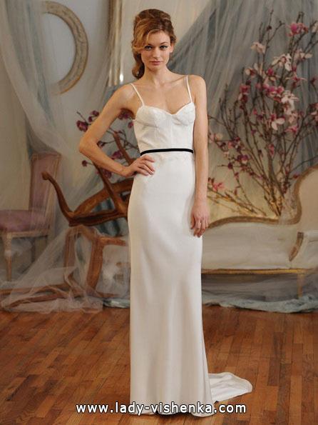 Прямое свадебное платье фото 2016 - Elizabeth Fillmore