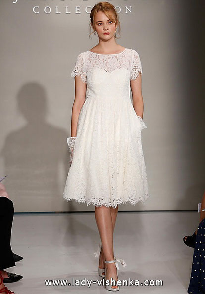 Свадебное платье короткое кружевное 2016 - Jenny Yoo
