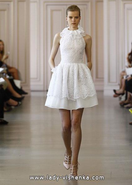 Короткие кружевные свадебные платья 2016 - Oscar de la Renta
