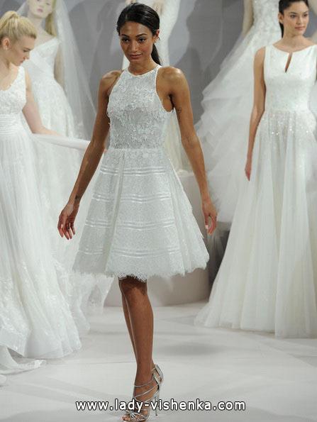 Свадебное платье короткое кружевное 2016 - Tony Ward