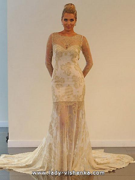 Свадебное платье короткое кружевное 2016 - Yumi Katsura