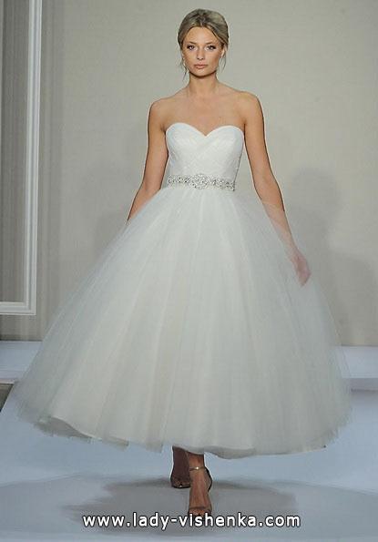 Короткие пышные свадебные платья 2016 - Dennis Basso