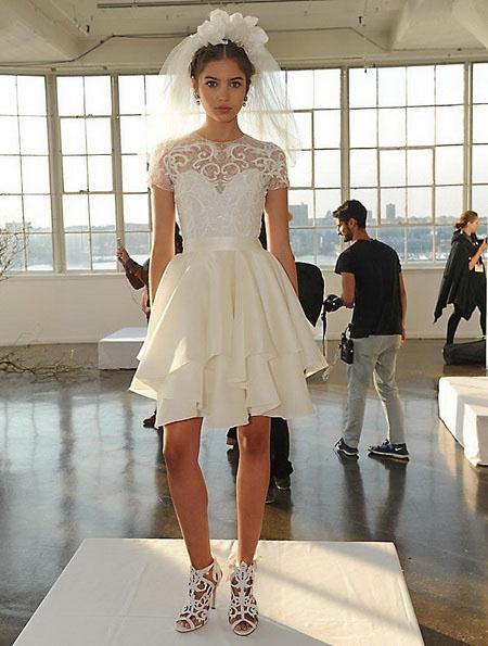 Короткие пышные свадебные платья 2016 - Marchesa