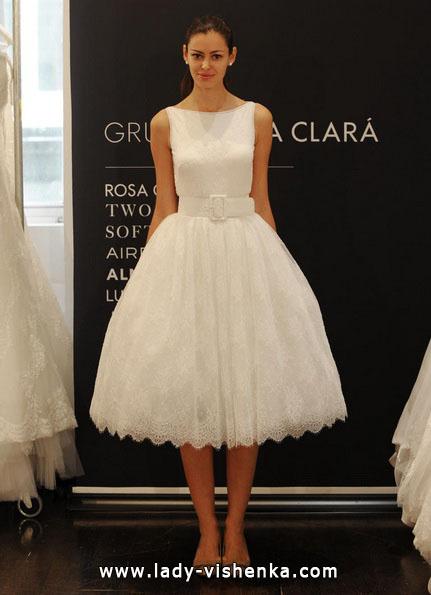 Короткие пышные свадебные платья 2016 - Rosa Clará