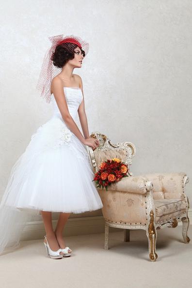 Короткое свадебное платье с пышной юбкой 2016 - Tatiana Kaplun