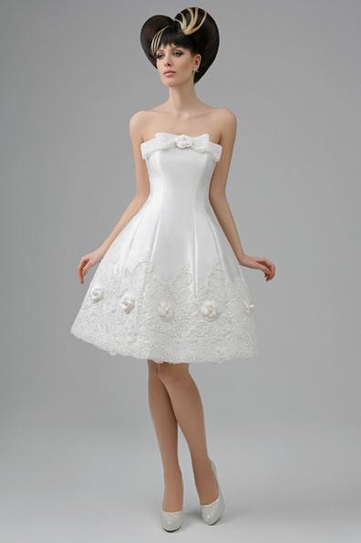 Короткое пышное свадебное платье принцессы - Tatiana Kaplun