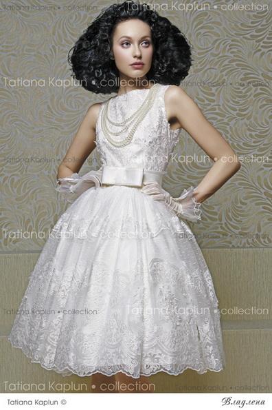 Короткое пышное свадебное платье с бантом 2016 - Tatiana Kaplun