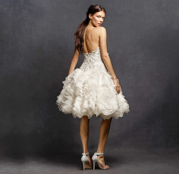 Короткое свадебное платье с пышной юбкой 2016 - Isabelle Armstrong