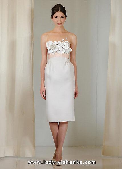 Короткое свадебное платье с 3D принтом - Angel Sanchez
