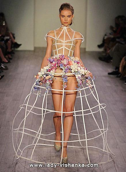 Свадебное платье короткое открытое - Hayley Paige